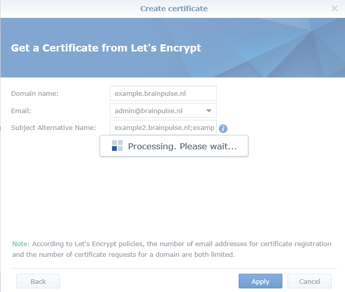 How To Install Let's Encrypt SSL Certificate On Synology